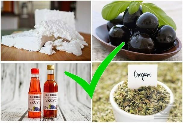 Продукты добавляемые в греческий салат