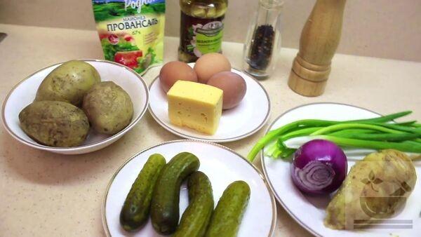"Ингредиенты для салата ""ананас"""
