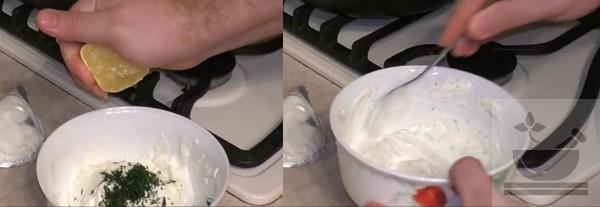 Сметано-чесночный соус процесс приготовления