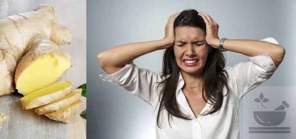 Имбирь при головной боли