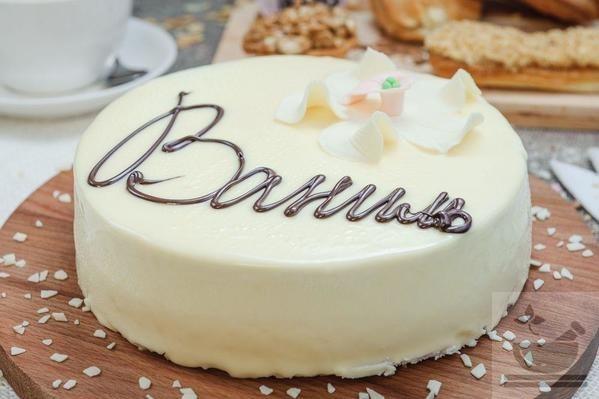 Торт ваниль