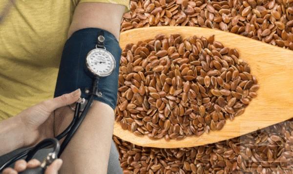 Семена льна при давлении