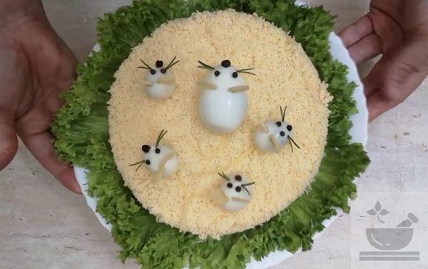 Салат «Мышка» с черносливом