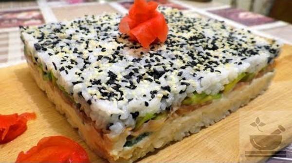 Суши торт Филадельфия
