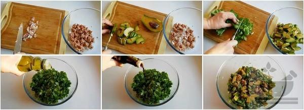 Готовим салат с тунцом, авокадо и апельсином