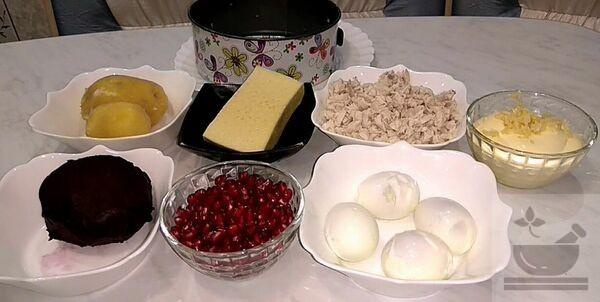 """Ингредиенты для салата """"Валентинка"""""""""""