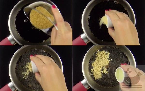 Смешивание ингредиентов соуса