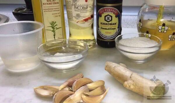 Продукты для соуса терияки