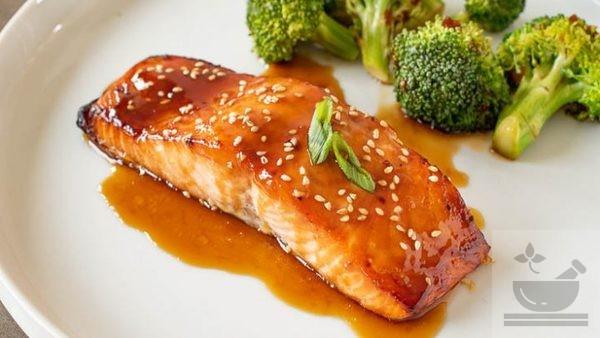 Рыба запеченная с соусом терияки