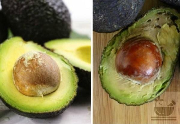 Хороший и окисленный плод
