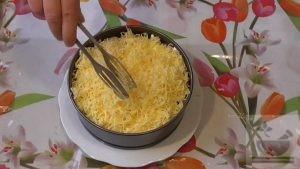 Сыр кладем последним слоем