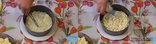 Лук выкладываем в салатник