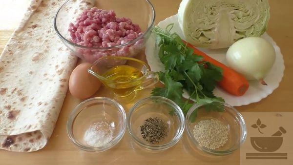 Продукты для начинки для лаваша