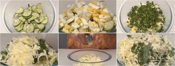 Собираем салат из огурцов