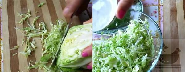 Нарезаем свежую капусту