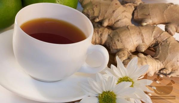 Имбирный чай с ромашкой