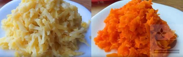 Натираем овощи на терке