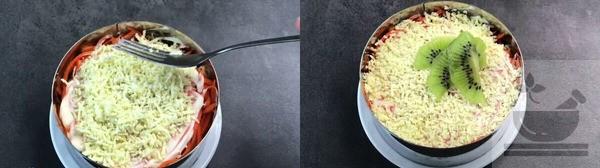 Украшаем салат киви