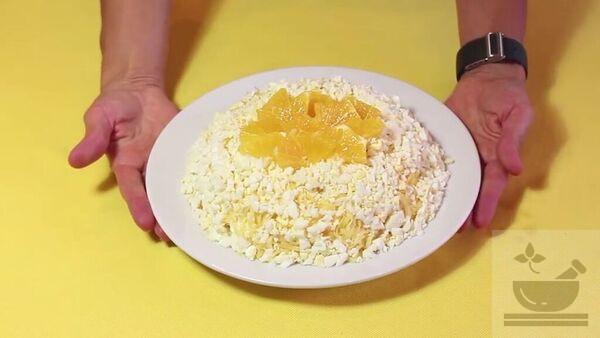 Салат апельсин с луком