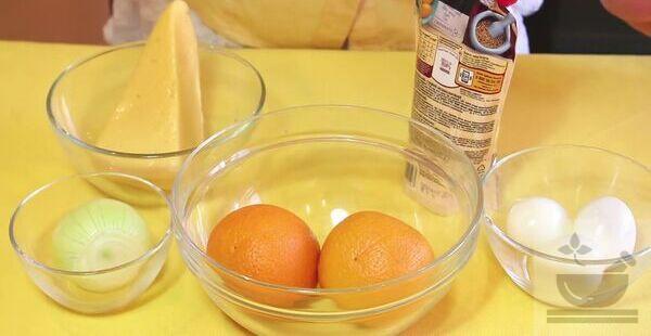 Продукты для салата с апельсином