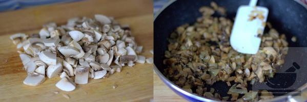 Подготавливаем грибы для салата