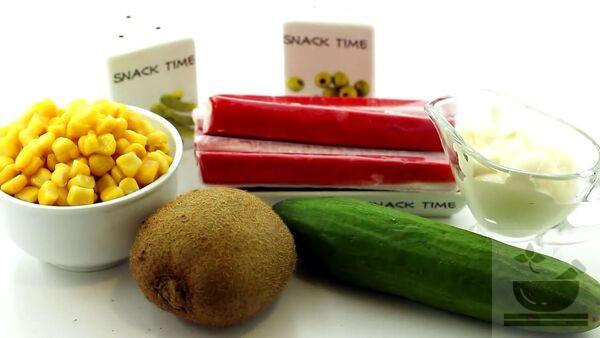 Ингредиенты для салата с киви