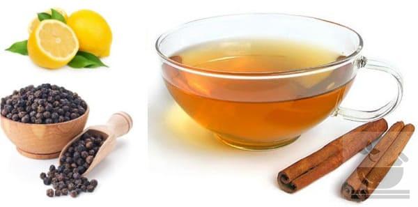 Черный перец и корица в чае