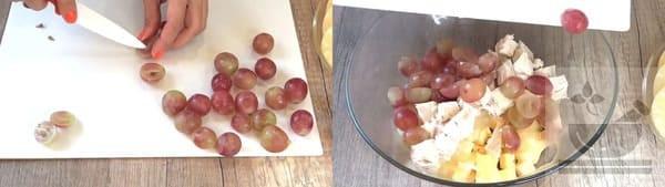 Нарезаем виноград