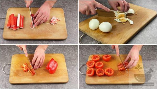 Нарезаем продукты соломкой