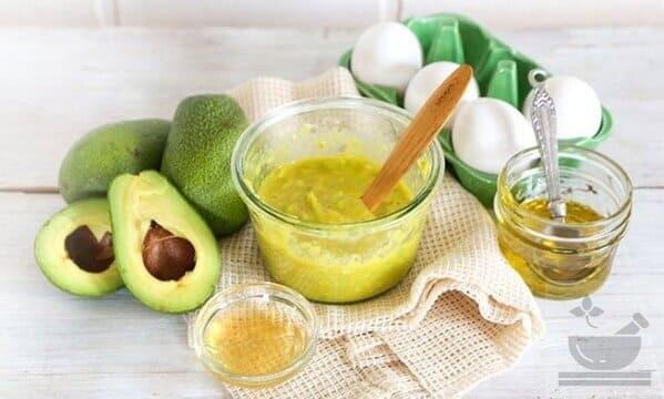 Маска из авокадо для сухих волос