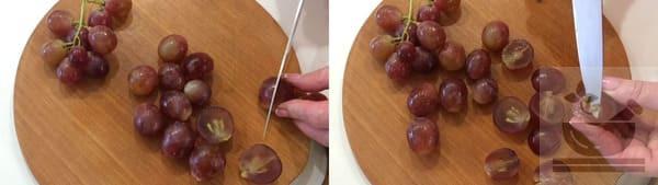 С винограда удаляем семечки