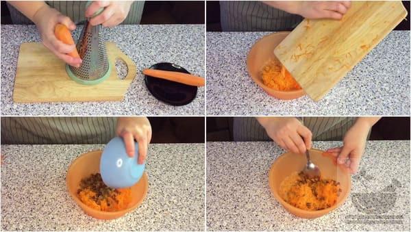 Подготавливаем морковь для салата