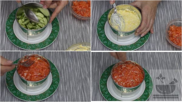 Собираем салат в кольце