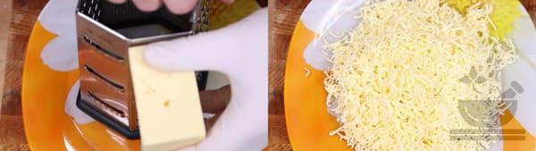 Подготавливаем твердый сыр